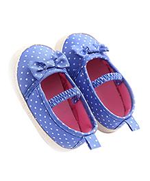 Little Hip Boutique Polka Dot Soft Soles - Blue