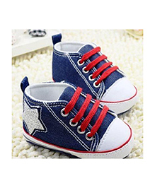 Little Hip Boutique Denim Star Pre Walker - Blue