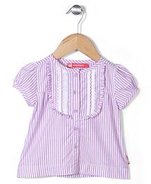 Kidsplanet Stripe Print Top - Purple