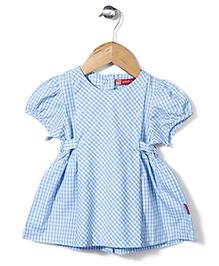 Kidsplanet Stripe Print Frock - Sky Blue