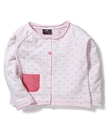 Hallo Heidi Rectangle Print Tee With Pocket - Baby Pink
