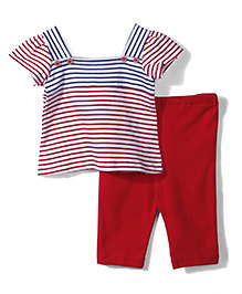Childhood Leggings & Top Set - Red