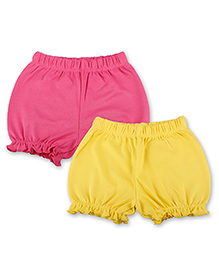 Kidsmode Organic Cotton Bloomers Pack of 2 - Yellow Pink