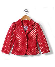 De Berry Polka Dot Print Jacket - Red
