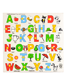 Skillofun - Capital Alphabet Wooden Tray With Pictures