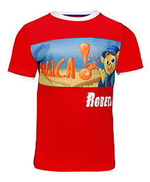 Imagica Half Sleeves T-Shirt Graphic Print - Red