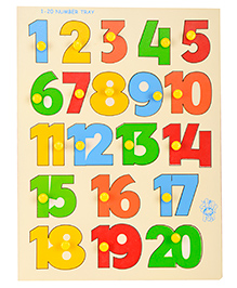 Skillofun Wooden Numerical Shape Tray Numbers 1 - 20