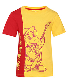 Imagica Half Sleeves T-Shirt Graphic Print - Yellow