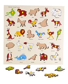 Skillofun Animal Alphabet Wooden Tray