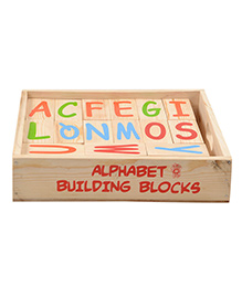 Skillofun - Wooden Alphabet Building Blocks