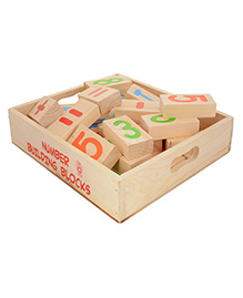 Skillofun - Number Building Wooden Blocks