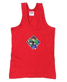 Ben 10 Printed Vest - Red