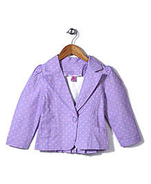 De Berry Polka Dot Print Jacket - Purple