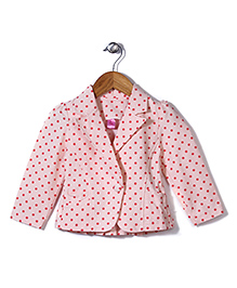 De Berry Polka Dot Print Jacket - Peach