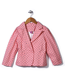 De Berry Polka Dot Print Jacket - Pink