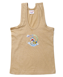 Doraemon Printed Vest - Brown