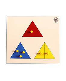Skillofun - Parts Of Triangle Wooden Tray