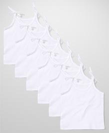 Chocopie Singlet Slips White - Pack of 6