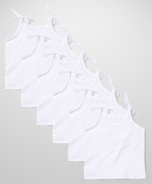 Chocopie Singlet Slips White - Pack of 6