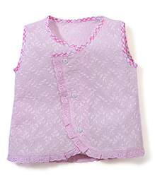 Chocopie Sleeveless Jhabla - Light Pink