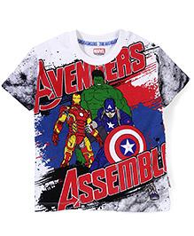 Marvel Half Sleeves T-Shirt Avengers Print - White