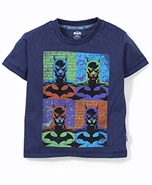 Batman Half Sleeves T-Shirt - Dark Blue
