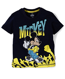 Mickey Mouse And Friends Half Sleeves T-Shirt - Navy