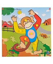 Skillofun - Theme Wooden Puzzle Standard Monkey