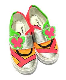 Purplehaze Floral Design Shoes - Multicolor