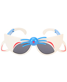 De Berry Cat Shape Sunglasses - Off White