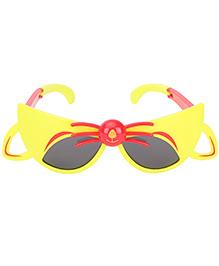 De Berry Cat Shape Sunglasses - Yellow