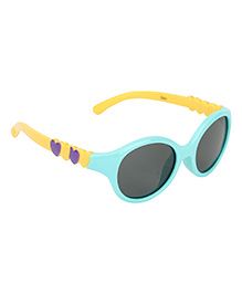 De Berry Heart Sunglasses - Aqua Blue