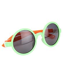 De Berry Round Shape Sunglasses - Green