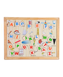 Skillofun - Wooden And Magnetic Twin Play Tray Alphabet Attic
