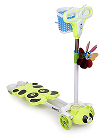 Sunny Toy Scooter Green With Blue Basket - SY005