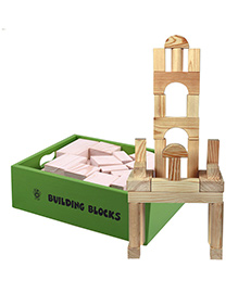 Skillofun - Wooden Building Blocks 60 Pieces