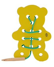 Skillofun - Wooden Sewing Toy Teddy Bear - 3 Years+