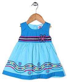 Smile Rabbit Tie Up Dress - Blue
