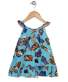Petit CuCu Printed Dress - Blue