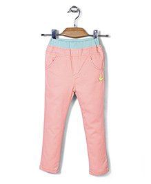 Mini Pink Casual Pant - Peach