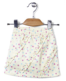 Miss Pretty Rose Print Skirt - Yellow