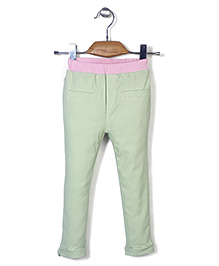 Mini Pink Pant - Light Green