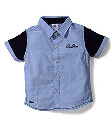 Bee Born Collar Neck Shirt - Navy Blue