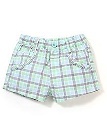 Miss Pretty Checks Print Shorts - Multicolour