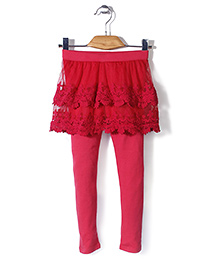 Minikid House Skirt With Attached Leggings - Pink