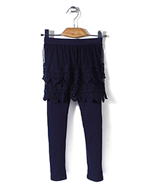 Minikid House Skirt With Attached Leggings - Navy Blue