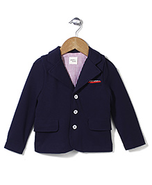 Petit Cucu Full Sleeves Jacket - Navy Blue