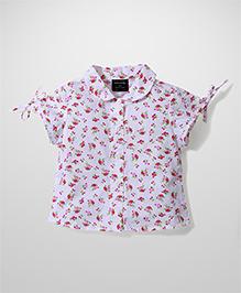 Miss Pretty Floral Print Shirt - Pink
