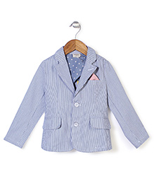 Petit Cucu Full Sleeves Jacket - Blue