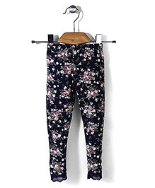 Petit Cucu Flower Print Leggings - Multicolour